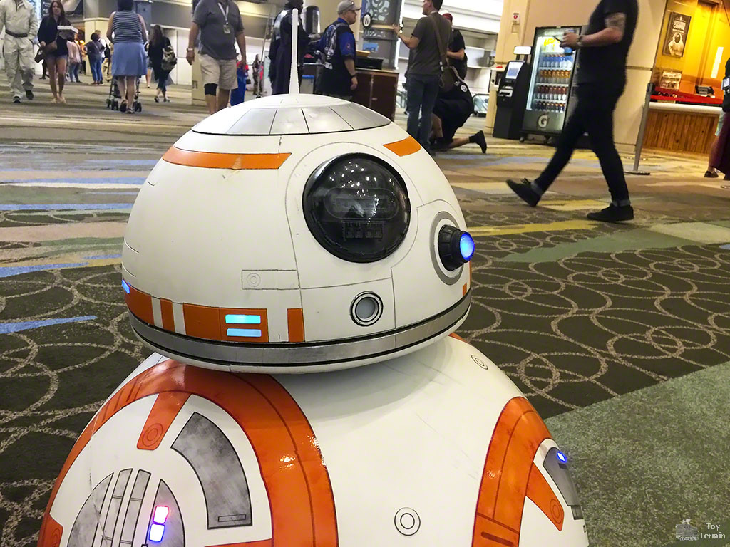 BB-8 Real Droid in the Convention Center