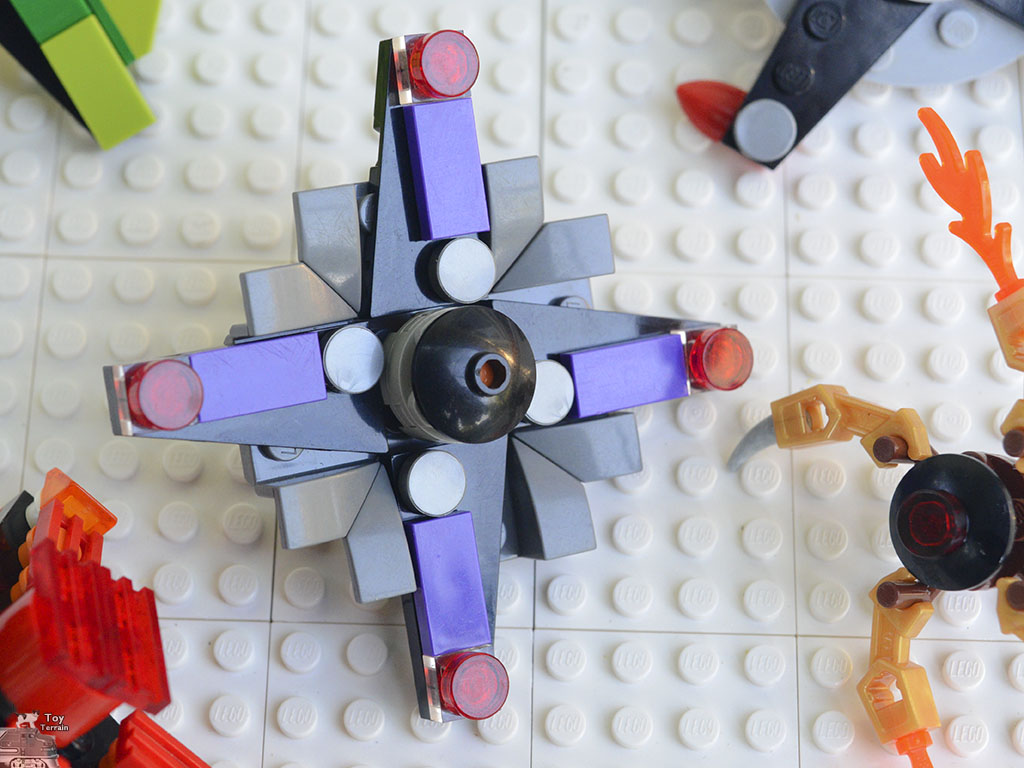 Close up of a LEGO Spinner