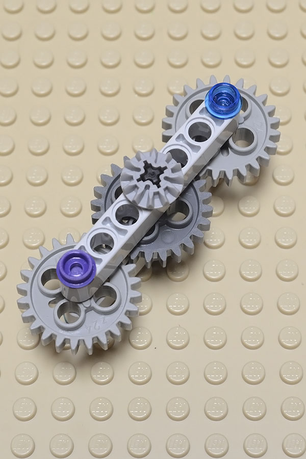 LEGO fidget spinner - easy technic gears design