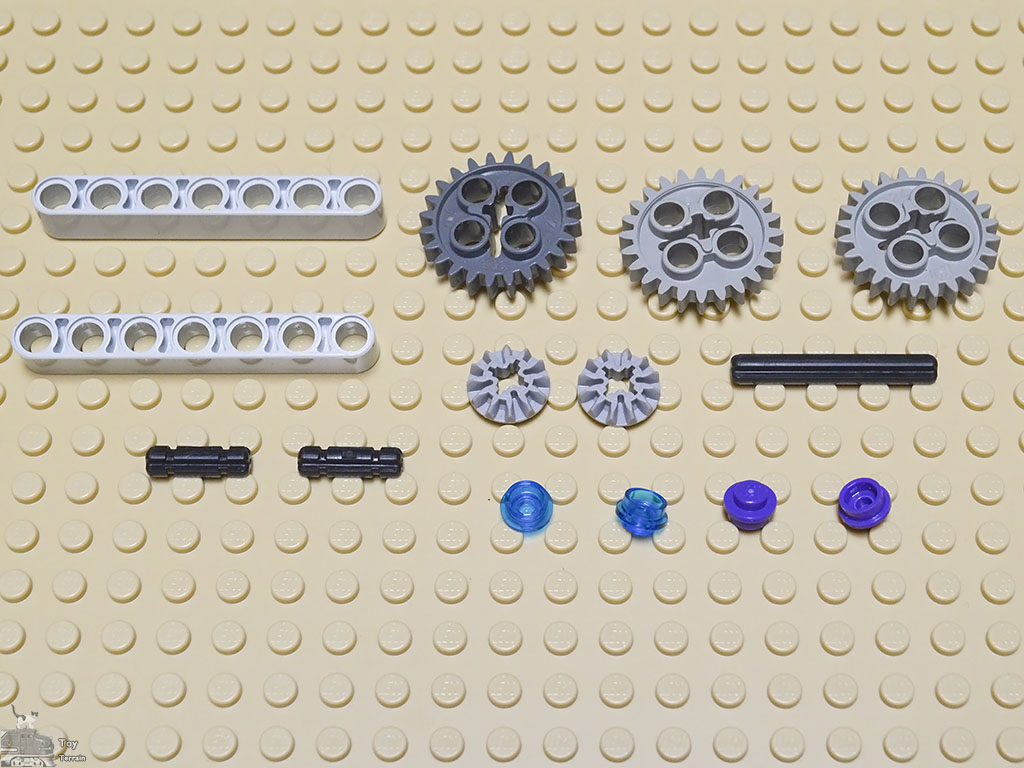 Inventory of LEGO pieces used in this fidget spinner