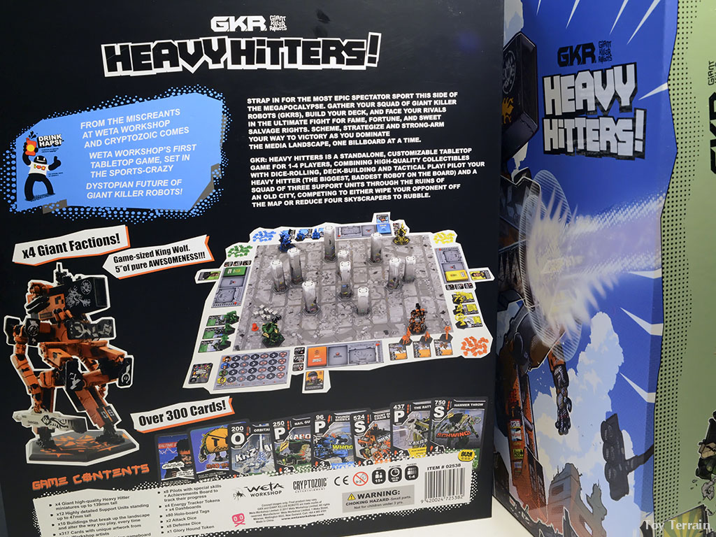 Details shown on the back of the box for GKR Heavy Hitters