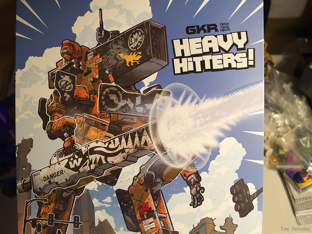 Close up view of GKR Heavy Hitters game box front